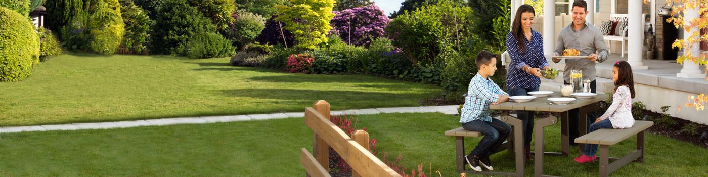 Garden Furniture On Grass garden & patio