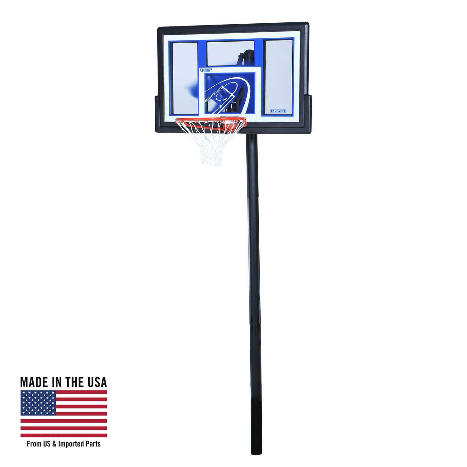 Lifetime Adjustable In-Ground Basketball Hoop (48-Inch Polycarbonate)