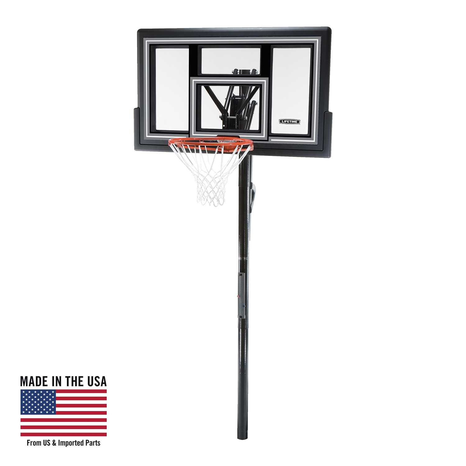 Lifetime Adjustable In-Ground Basketball Hoop (50-Inch Polycarbonate)