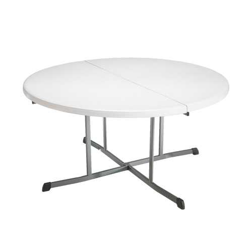 Lifetime 60-Inch Round Fold-In-Half Table (Commercial)