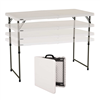 Lifetime 4-Foot Adjustable Fold-In-Half Table - 24 Pk (Light Commercial)