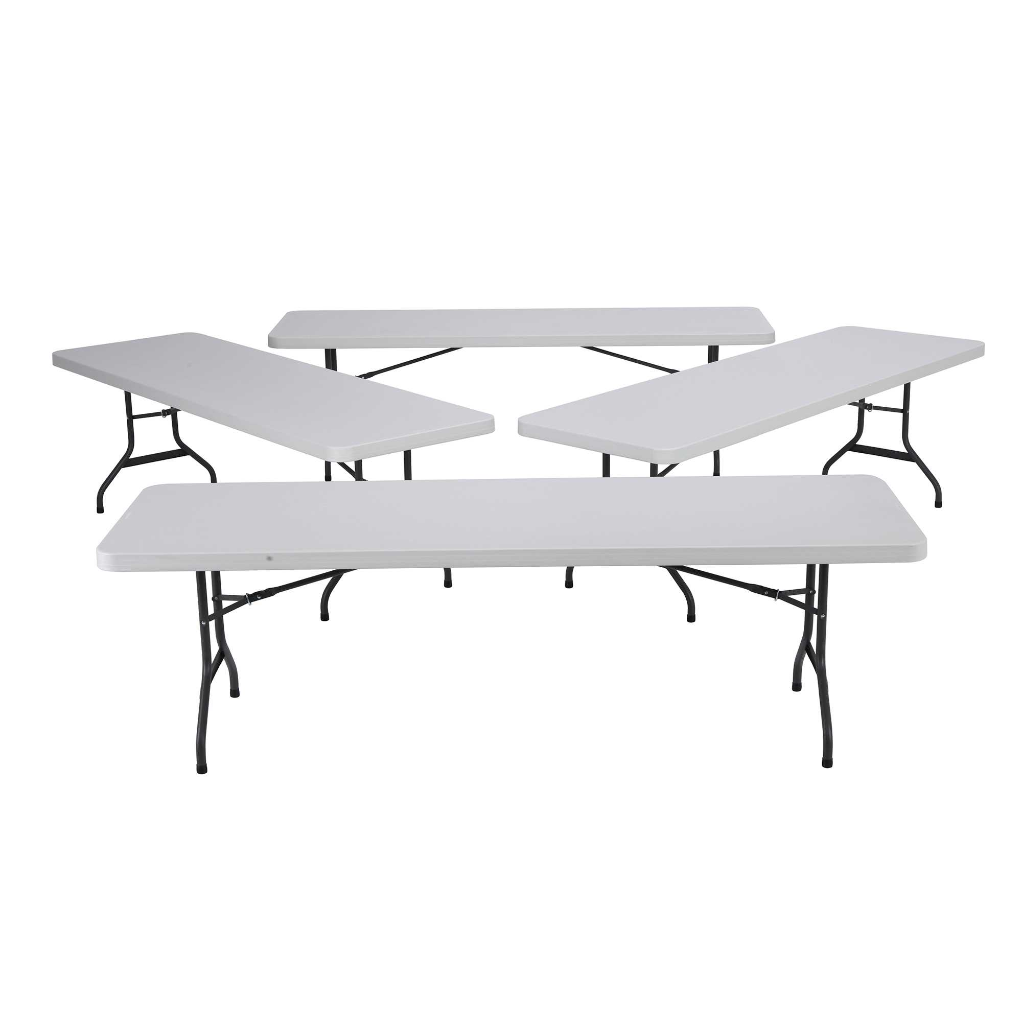 Lifetime 8-Foot Folding Table- 4 Pk (Commercial)
