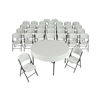 Lifetime (4) 60-Inch Round Stacking Tables and (32) Chair Combo