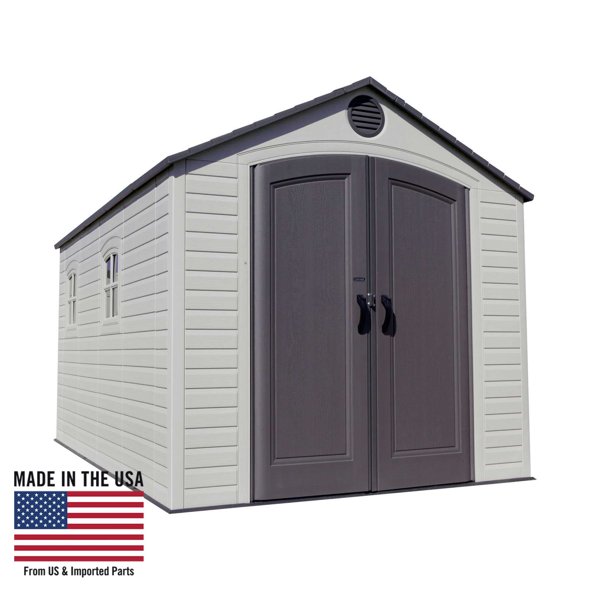 Lifetime 8 Ft. x 15 Ft. Outdoor Storage Shed