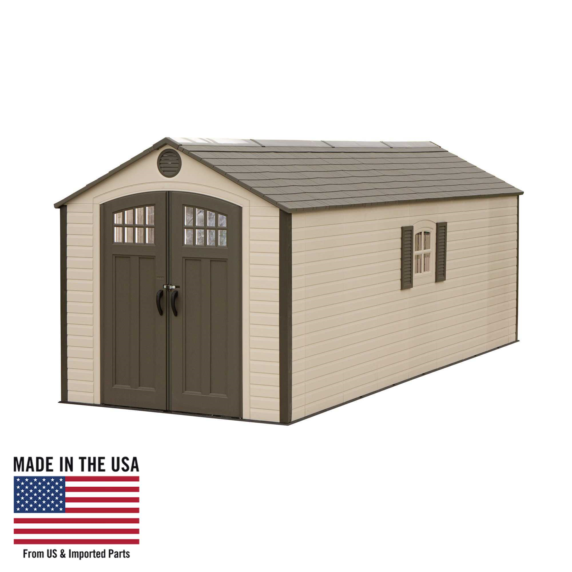 Lifetime 8 Ft. x 20 Ft. Outdoor Storage Shed