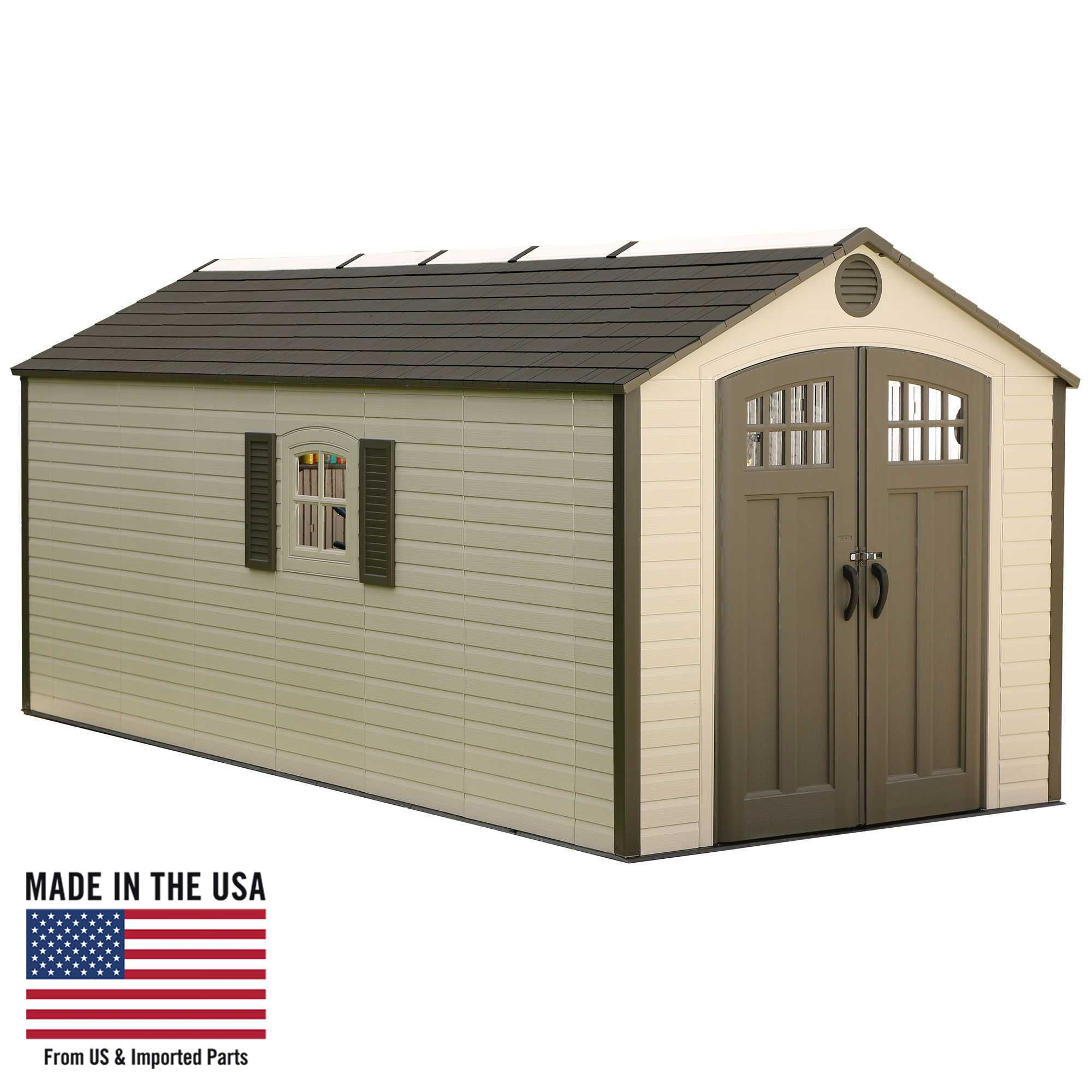 Lifetime 8 Ft. x 17.5 Ft. Outdoor Storage Shed