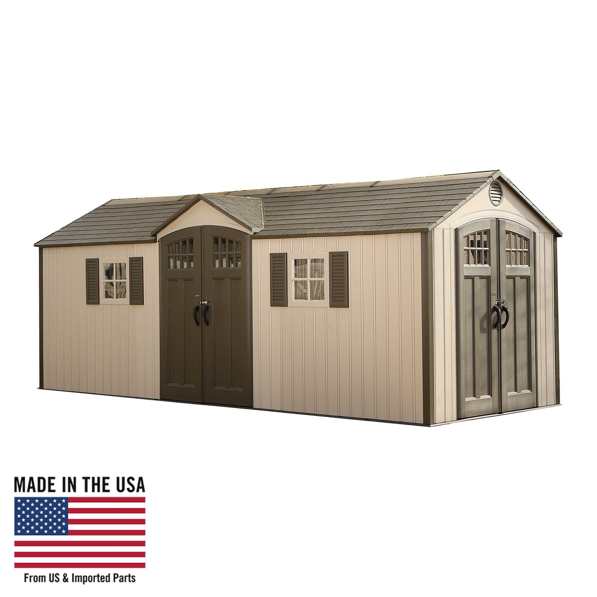 Lifetime 20 Ft. x 8 Ft. Outdoor Storage Shed