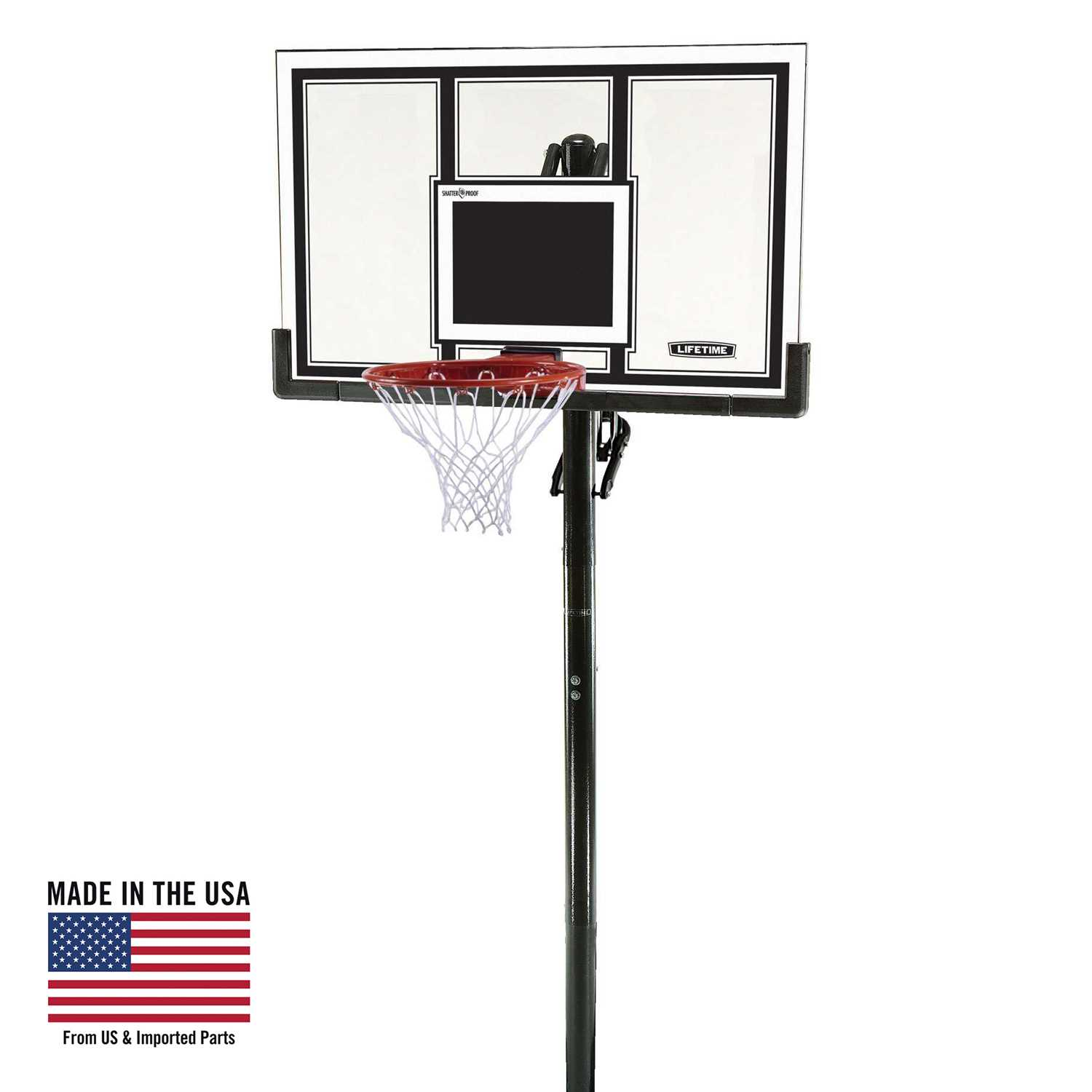Lifetime Adjustable In-Ground Basketball Hoop (54-Inch Polycarbonate)