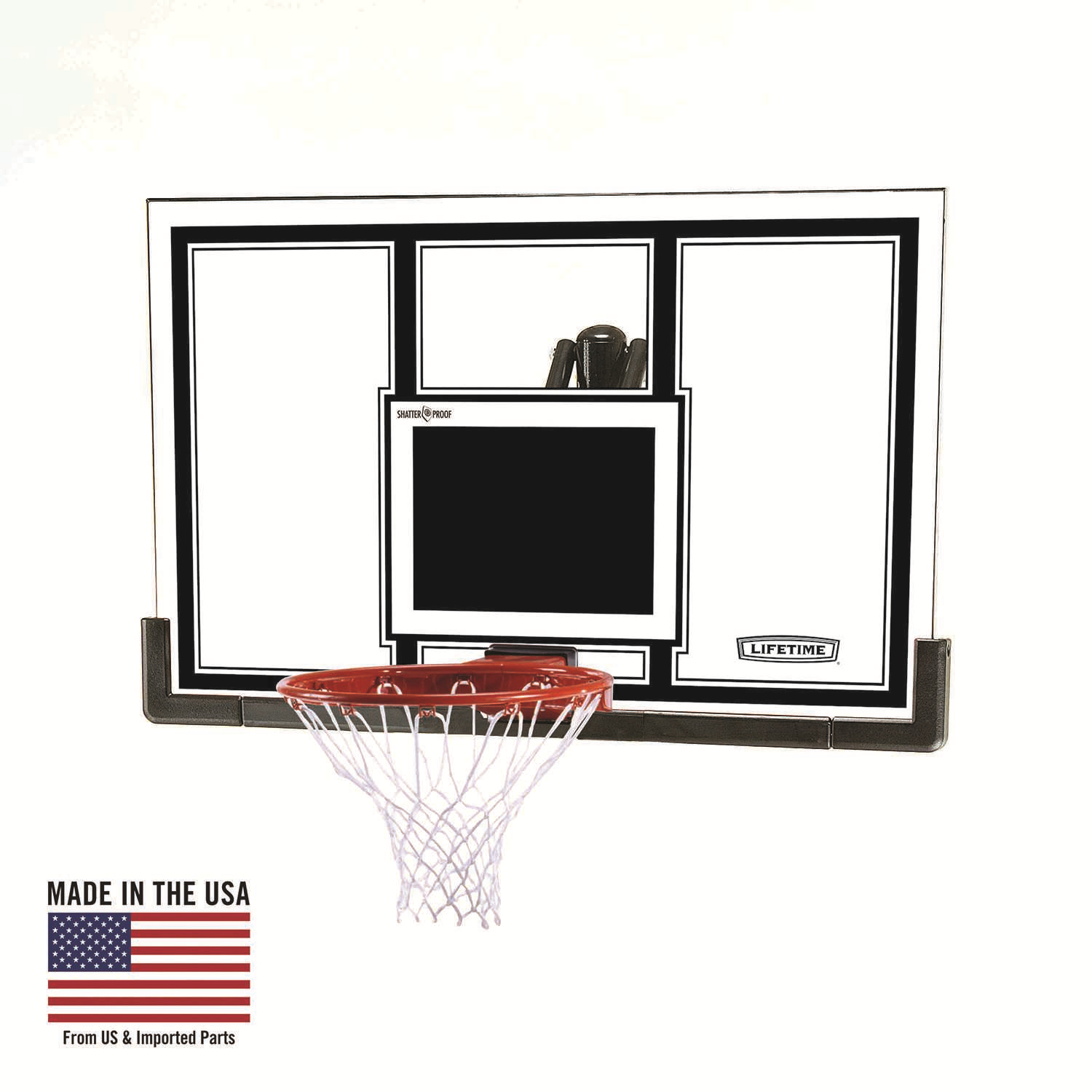 Lifetime Basketball Backboard and Rim Combo (54-Inch Polycarbonate)