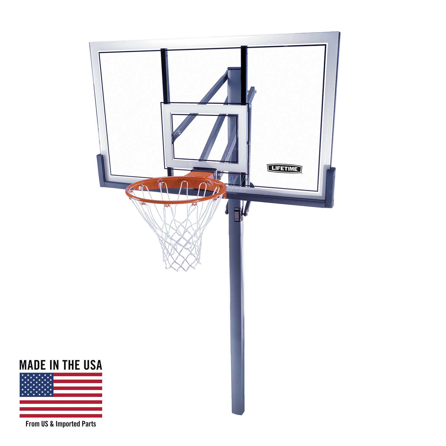 Lifetime Adjustable In-Ground Basketball Hoop (54-Inch Acrylic)