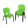 Lifetime Childrens Stacking Chair (Essential) - Lime Green