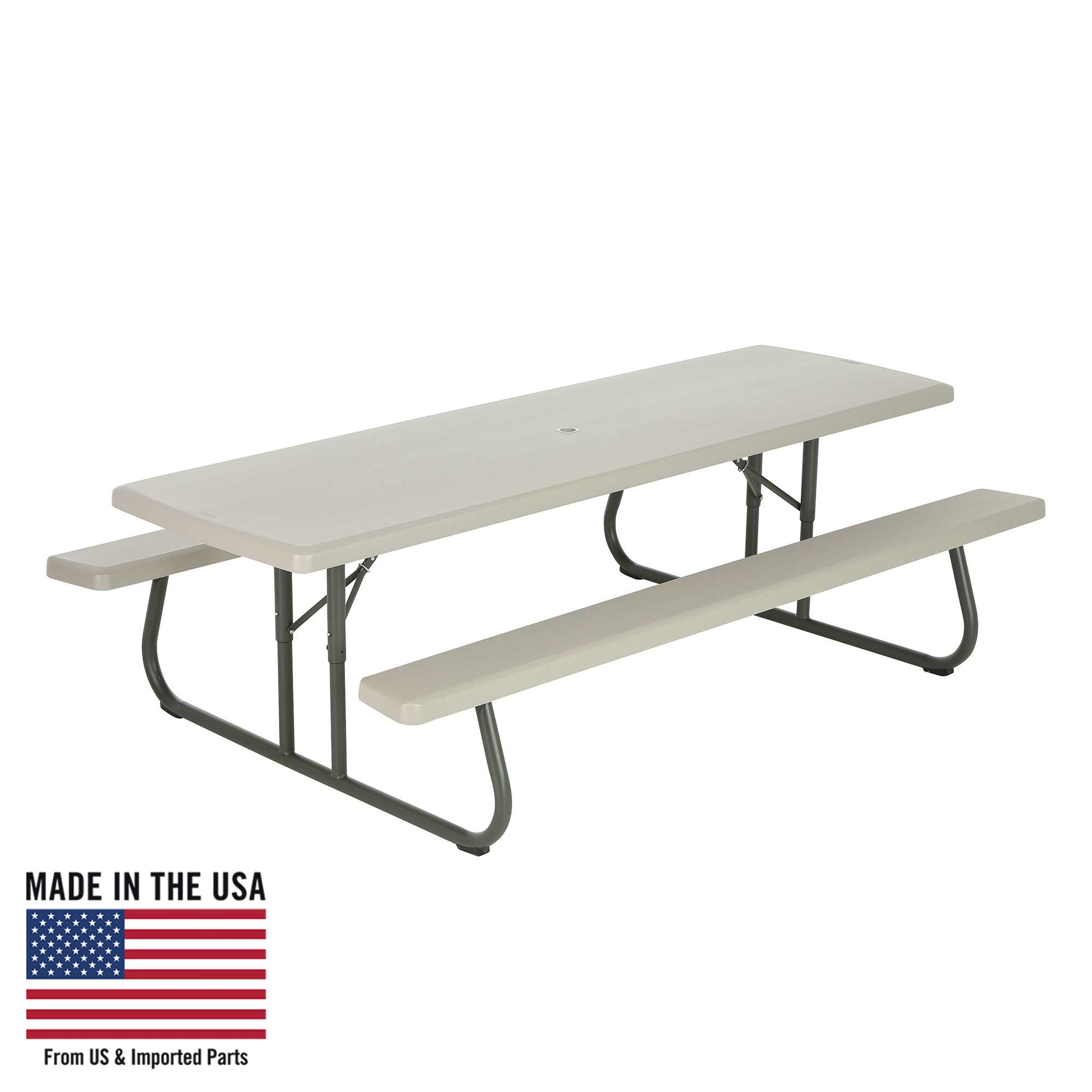 Lifetime 8-Foot Classic Folding Picnic Table