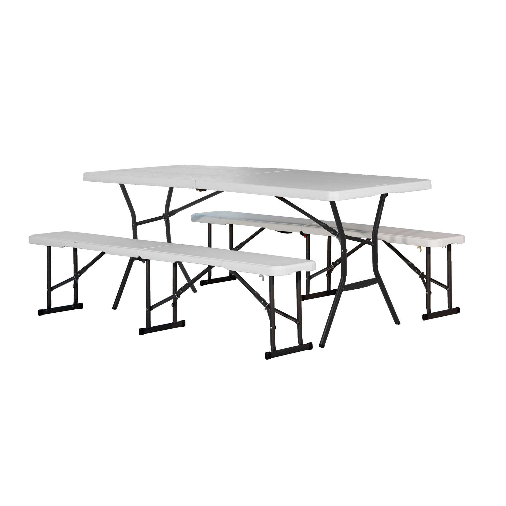 Lifetime Table and (2) Bench Combo Pack (Light Commercial)