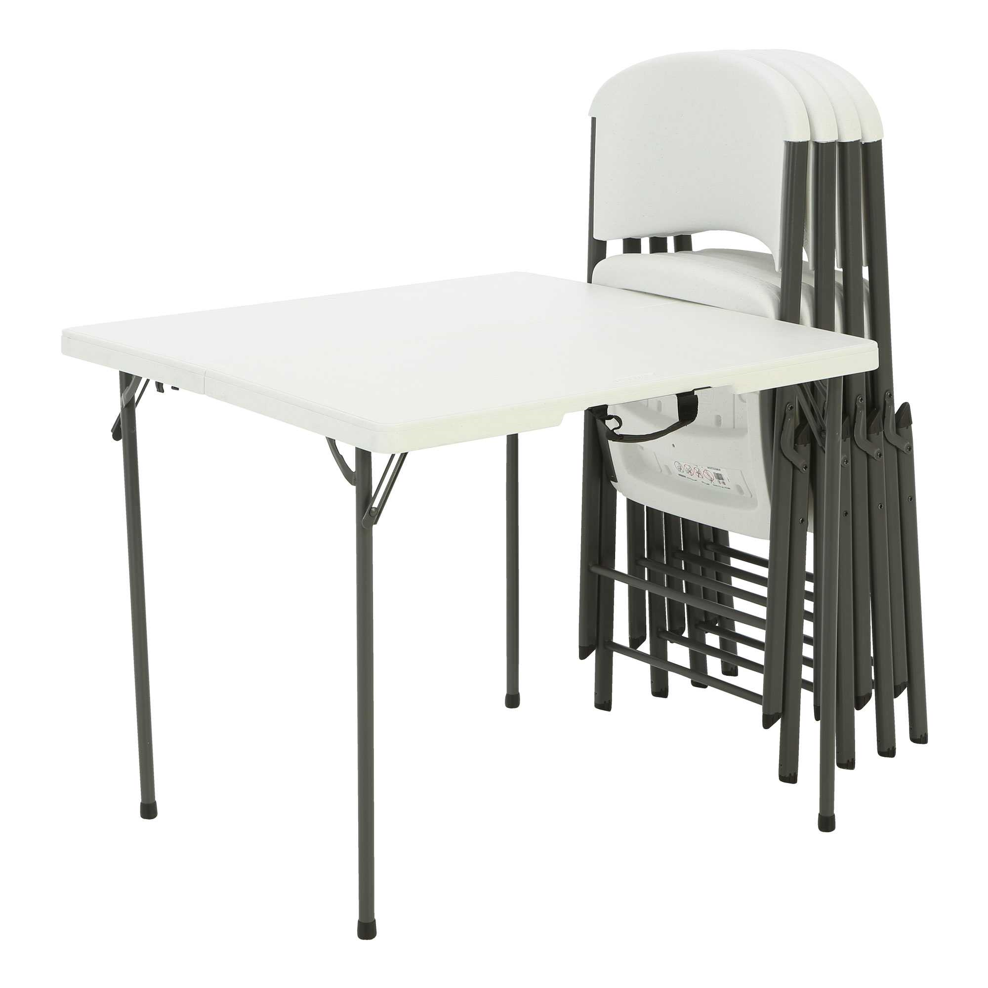 Lifetime 34-Inch Card Table and (4) Chairs Combo