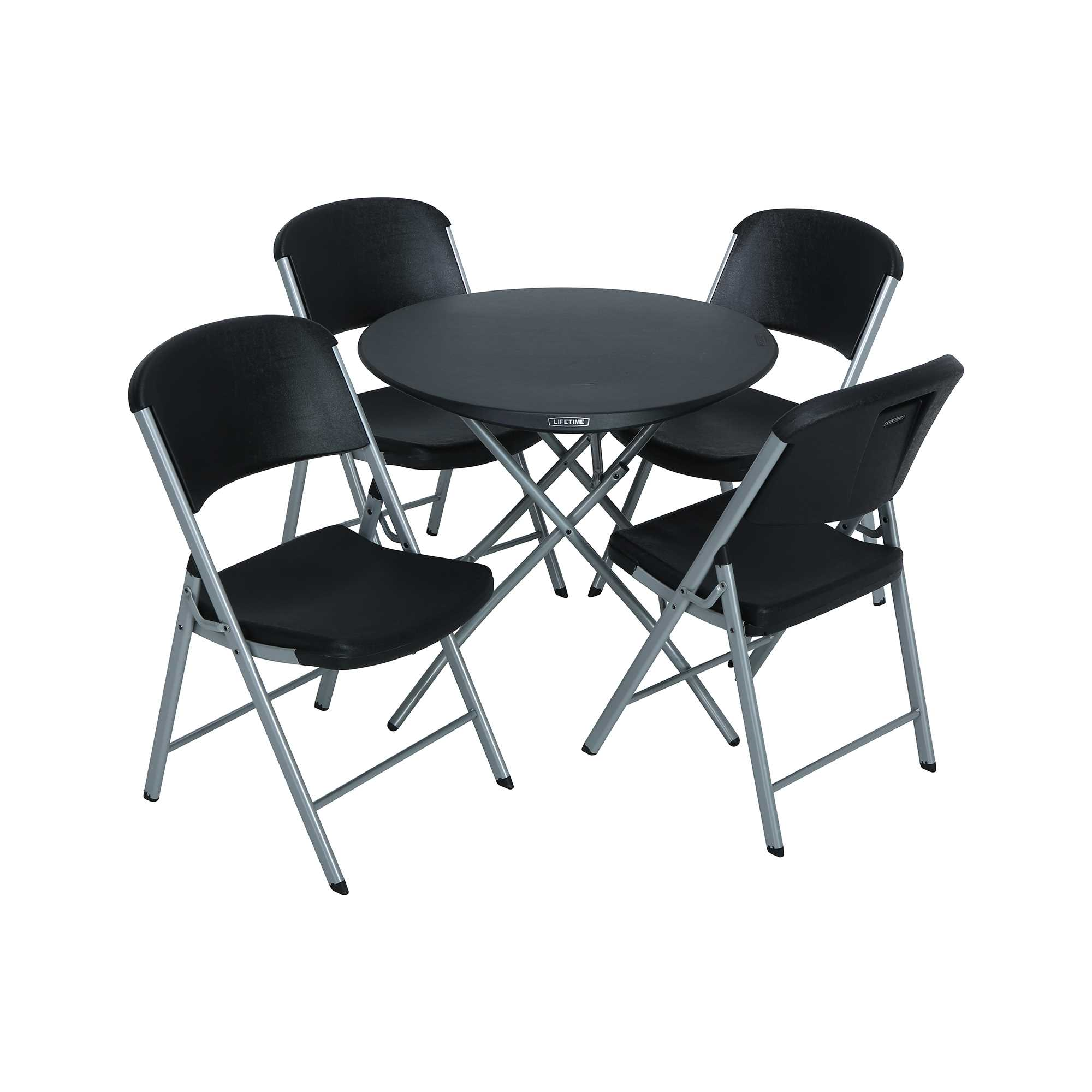 Lifetime 33-Inch Round Personal Table and (4) Chairs Combo