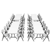 Lifetime (4) 8-Foot Rectangle Tables and (32) Chairs Combo