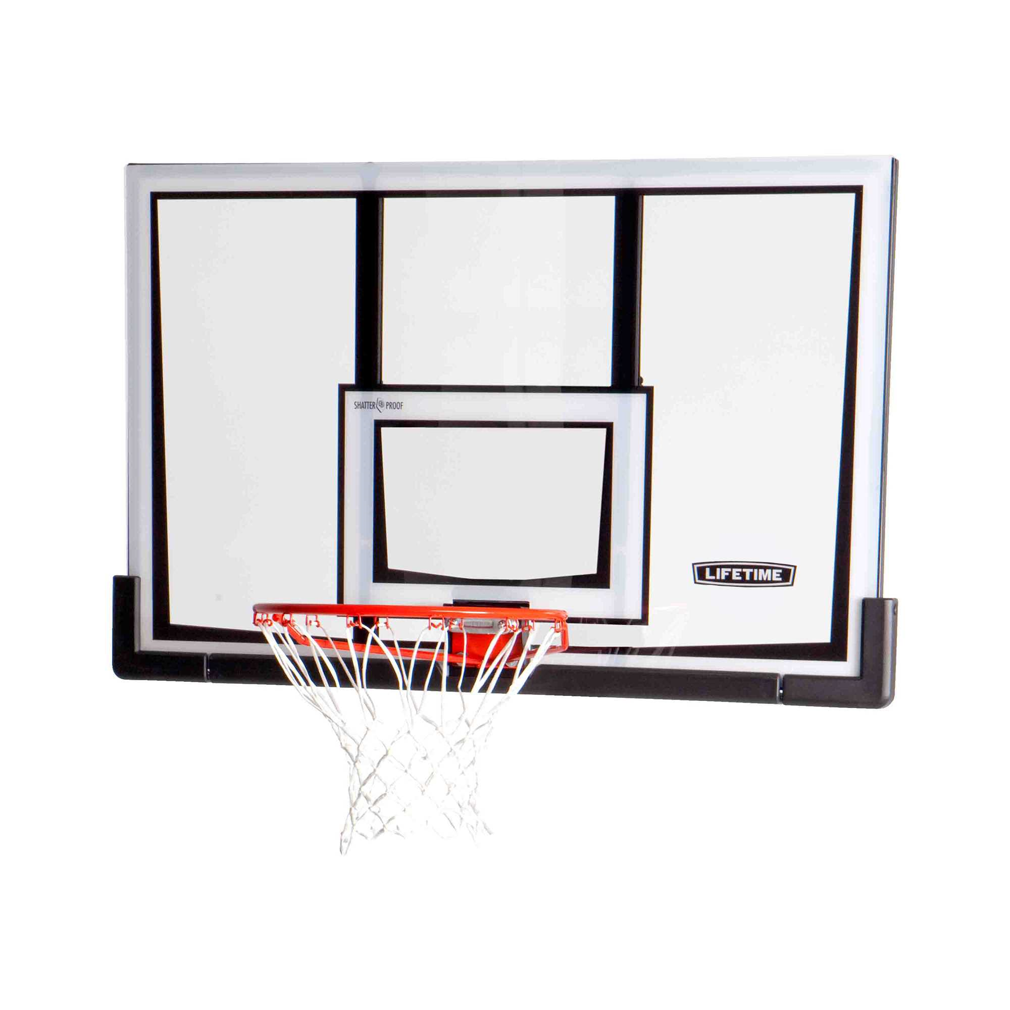 Lifetime Basketball Backboard and Rim (52-Inch Polycarbonate)