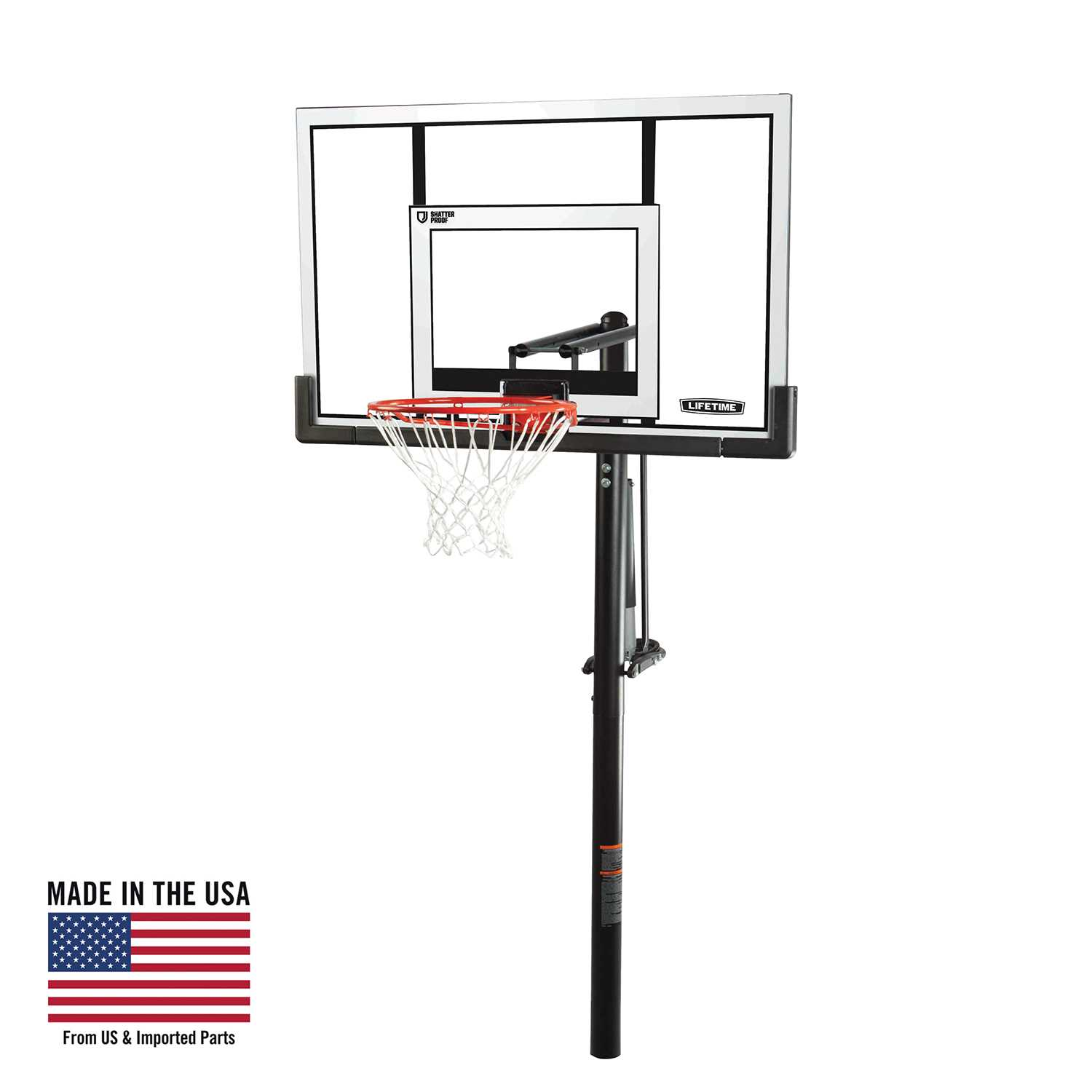 Lifetime Adjustable In-Ground Basketball Hoop (52-Inch Polycarbonate)