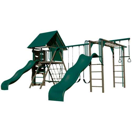 Double Slide Deluxe Playset (Earthtone)