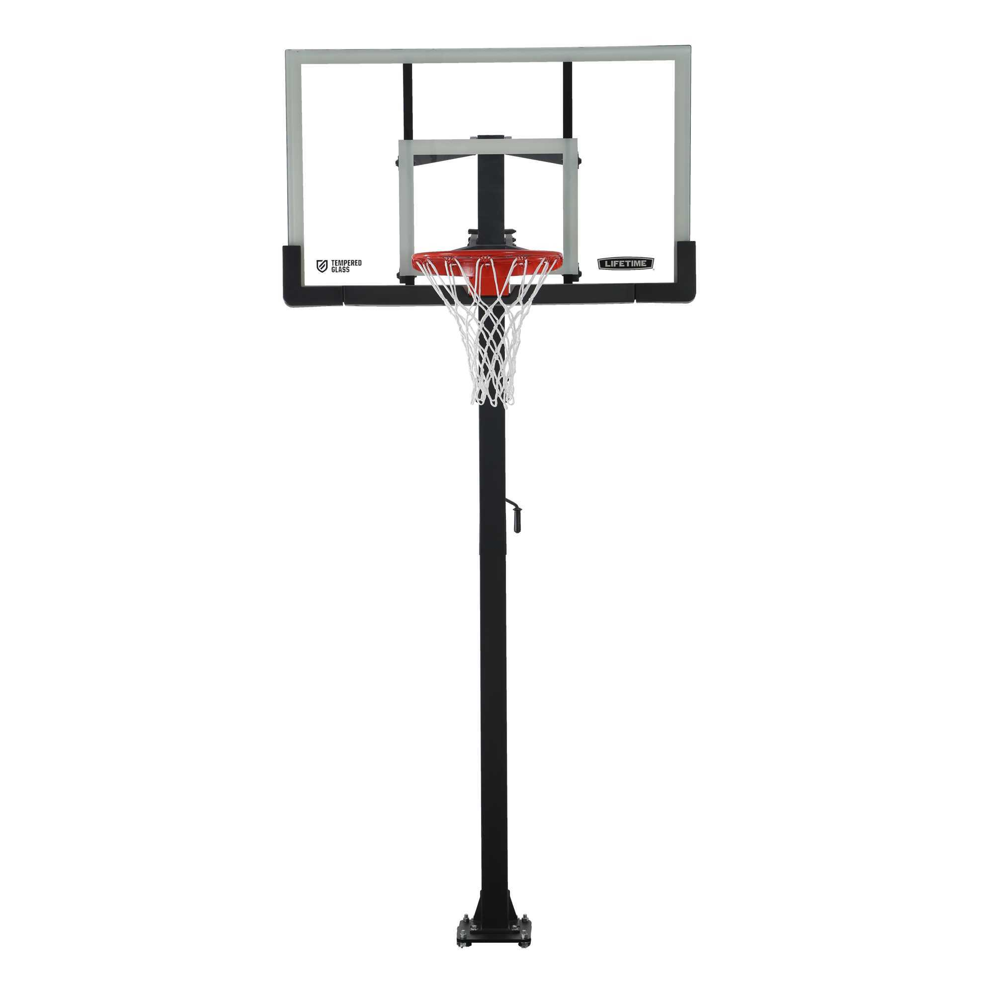 Lifetime Adjustable In-Ground Basketball Hoop (60-Inch Tempered Glass)