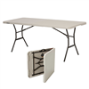 Lifetime 6-Foot Fold-In-Half Table (Light Commercial) - White Granite
