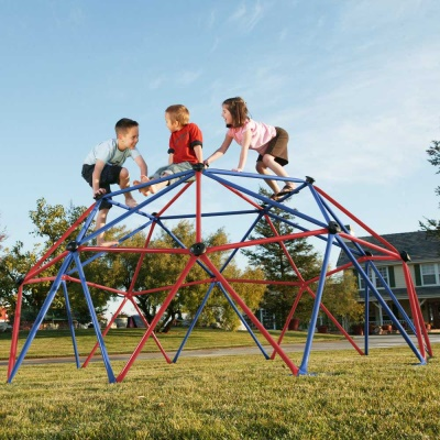 Kids Metal Dome Climber (Red and Blue), image 4