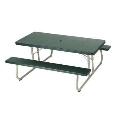 folding picnic table 10 pack hunter green