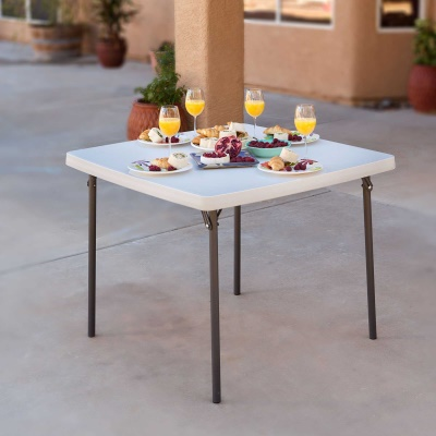 37 in. Commercial Folding Card Table (White Granite), image 3