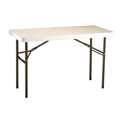 commercial plastic folding utility table almond - Utility Table
