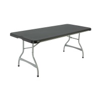 6-Foot Commercial Stacking Folding Table (black)