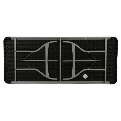 6-Foot Commercial Stacking Folding Table (black), image 9