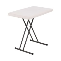 30 x 20 in. Personal Adjustable Height Folding Table (Almond)