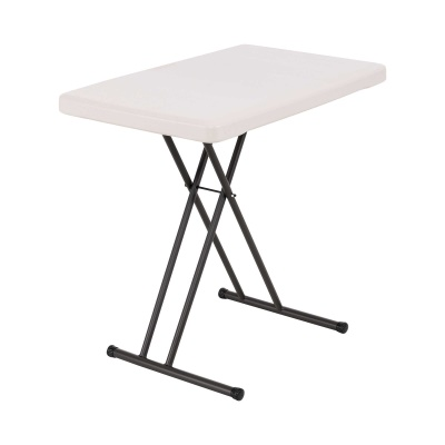 30 x 20 in. Personal Adjustable Height Folding Table (Almond), image 1