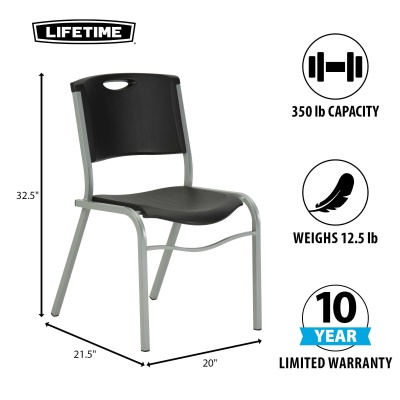 Black Stackable Chairs lifetime commercial contoured stacking chair 14 pack (black)
