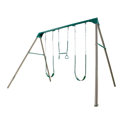 Heavy-Duty A-Frame Metal Swing Set (Earthtone), image 1
