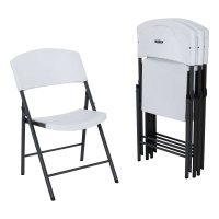 Light Commercial Folding Chair 4 Pack (White Granite)