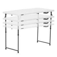 Light Commercial Adjustable Height Fold In Half Table With Carry