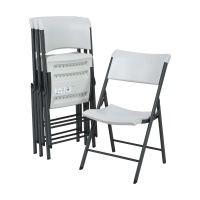 Commercial Contemporary Folding Chair 4 Pack (Almond)