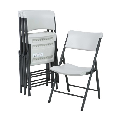 Commercial Contemporary Folding Chair 4 Pack (Almond), image 1