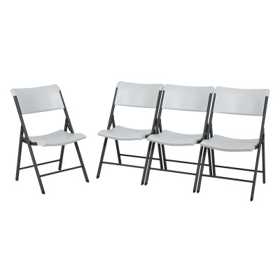 Commercial Contemporary Folding Chair 4 Pack (Almond), image 2