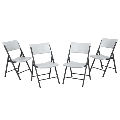 Commercial Contemporary Folding Chair 4 Pack (Almond), image 4