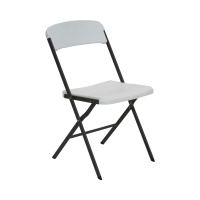 Essential Folding Chair 4 Pack (White Granite)