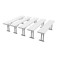 8 Ft Commercial Conference Table  5 Pack (White Granite)