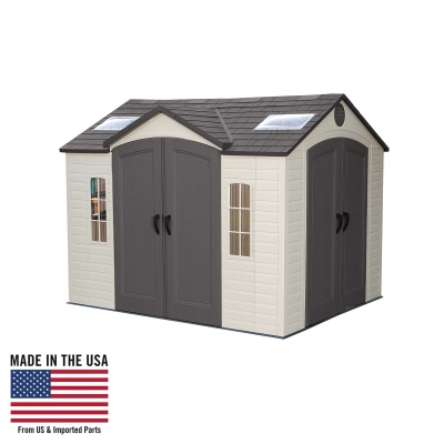 10 x 8 ft Outdoor Storage Shed with Double Doors Front and Side, image 1