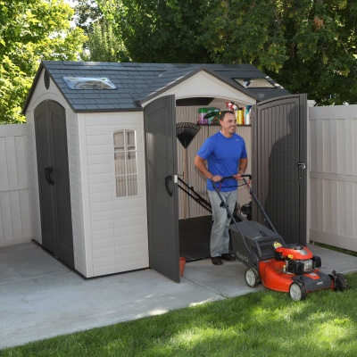 10 x 8 ft Outdoor Storage Shed with Double Doors Front and Side, image 10
