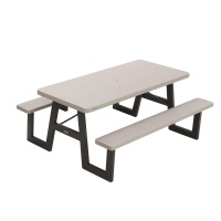 wframe folding picnic table putty