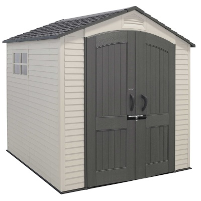 7 x 7 ft outdoor storage shed with 2 windows