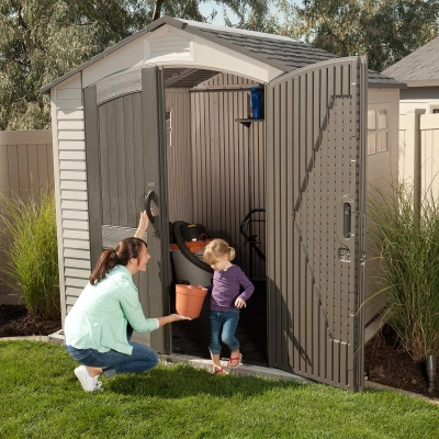 7 x 7 ft Outdoor Storage Shed with 2 Windows, image 12