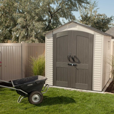 7 x 7 ft outdoor storage shed with 2 windows image 14 - Garden Sheds 7 X 14