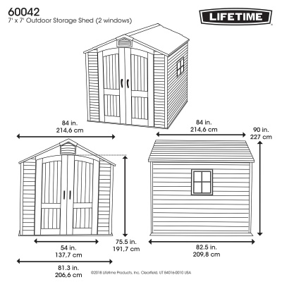 7 x 7 ft Outdoor Storage Shed with 2 Windows, image 24